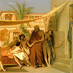 Socrates_seeking_Alcibiades_in_the_House_of_Aspasia, Jean-Léon Gérôme
