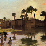 Bathers_by_the_Edge_of_a_River, Jean-Léon Gérôme