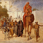 Eduard Gaertner - Departure from Cairo