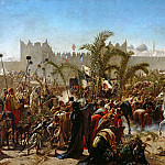 Hans Thoma - Entry of Frederick William, Crown Prince of Prussia, into Jerusalem in 1869