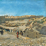 Wilhelm Leibl - View of Jerusalem