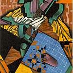 Juan Gris - Gris Violin and checkerboard, 1913, 100x65 cm, Simon and Bon
