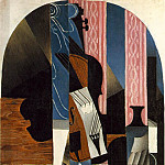 Juan Gris - Gris Untitled (Violin and ink bottle on a table), 1913, 89.5