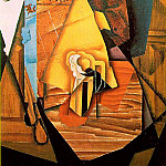 Juan Gris - Gris A man in a cafe, 1914, 99x72 cm, Acquavella Galleries,