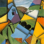Juan Gris - Gris Landscape with house at Ceret, 1913, 100x65 cm, Galeria
