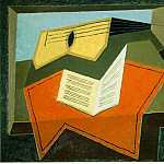 Juan Gris - Guitar and music paper, 1926-27, 65x81 cm, Saidenberg G