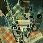 Juan Gris - Gris Still life with checked tablecloth, 1915, 116 x 89 cm,