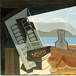 Juan Gris - Gris The open window, 1921, 65x100 cm, M. Meyer Collection,