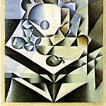 Juan Gris - Gris Still life with flowers, 1912, 112.1 x 70.2 cm, Moma NY