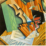 Juan Gris - Gris Violin and glass, 1915, 92x60 cm, Fogg Art Museum, Harv