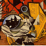 Juan Gris - Gris Pears and grapes on a table, 1913, 54.5x73 cm, Mr. amd