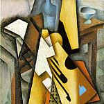 Juan Gris - Guitar on a chair, 1913, 100 x 65 cm, Private
