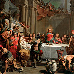 Eugene-Louis Lami - Marriage feast at Cana