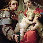Uffizi - Madonna and Child with Saints John, Anna and Rocco (detail)