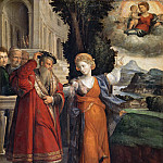 Francesco Bissolo - The Virgin Appearing to Augustus and the Sybil