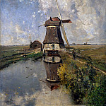 Paul Joseph Constantine Gabriel - Mill in the polder Sun