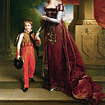Marie Amelie de Bourbon Duchess of Orleans and her Son Prince Ferdinand