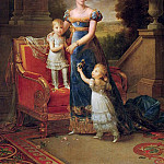 Marie-Caroline de Bourbon with her Children in Front of the Chateau de Rosny, Francois Pascal Simon Gerard