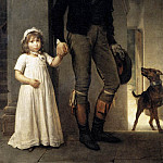 Jean Baptist Isabey Miniaturist With His Daughter, Francois Pascal Simon Gerard