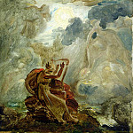 Ossian Conjures Up the Spirits with His Harp on the Banks of the River of Lora, Francois Pascal Simon Gerard