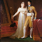 Portrait of Jerome Bonaparte and his wife Catherine of Wurtemberg, Francois Pascal Simon Gerard