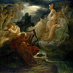 On the Bank of the Lora, Ossian Conjures up a Spirit with the Sound of his Harp, Francois Pascal Simon Gerard
