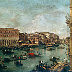 Francesco Guardi - The Grand Canal at th Fish Market Pescheria