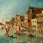 Francesco Guardi - Guardi View on the Cannaregio Canal, Venice, c. 1775-1780,(3