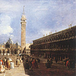 Francesco Guardi - The Piazza San Marco towards the Basilica