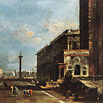 Francesco Guardi - View of Piazzetta San Marco towards the San Giogio Maggiore