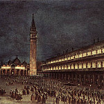 Nighttime Procession in Piazza San Marco, M B Von Arco