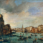 Francesco Hayez - The Grand Canal Looking toward the Rialto Bridge