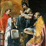 Bonifacio Bembo - Madonna with four Saints