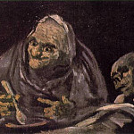 Francisco Jose De Goya y Lucientes - Two Old Women Eating From A Bowl