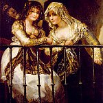 Francisco Jose De Goya y Lucientes - Majas on a Balcony, ca 1808-12, 162x107 cm, Private col