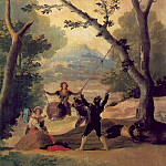 Francisco Jose De Goya y Lucientes - The swing, 1787, 169x100 cm, Duke of Montellano Collect