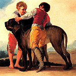 Francisco Jose De Goya y Lucientes - Boys With Mastiff