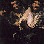 Francisco Jose De Goya y Lucientes - Two Young People Laughing at a Man, 1820-23, 125x66 cm,