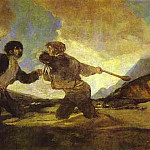 Francisco Jose De Goya y Lucientes - Fight with Clubs