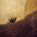 Francisco Jose De Goya y Lucientes - The dog, 1820-23, 134x80 cm, Detalj, Oil on plaster rem
