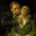 Francisco Jose De Goya y Lucientes - 1820 Self-Portrait with Doctor Arrieta