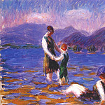 William James Glackens - lake bathers, c1920