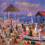 William James Glackens - beach scene, new london 1918