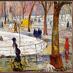 William James Glackens - Winter-WashingtonSquarePark