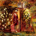 William James Glackens - Two In A Garden