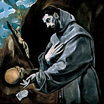 Saint Francis in Prayer, El Greco