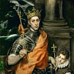 Saint Louis, King of France, and a Pageboy, El Greco