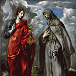 Saints John the Evangelist and Francis, El Greco