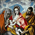 Holy Family, El Greco