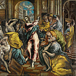 Christ Driving the Money Changers from the Temple [Workshop], El Greco